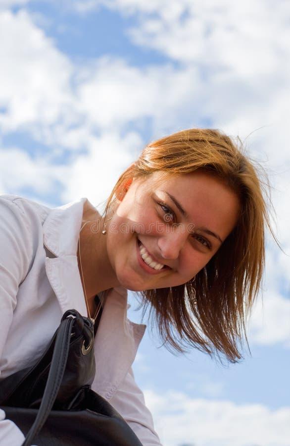 Sonrisa asoleada imágenes de archivo libres de regalías