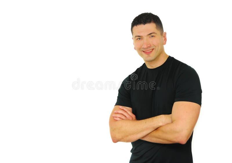 Sonrisa atlética del hombre imagen de archivo libre de regalías