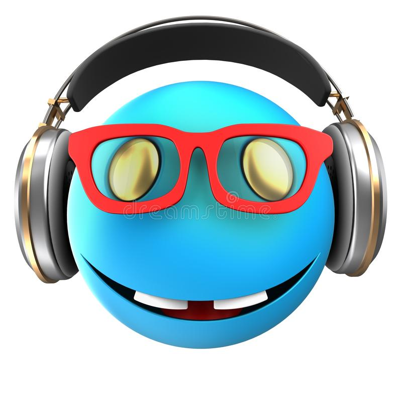 sonrisa azul del emoticon 3d libre illustration