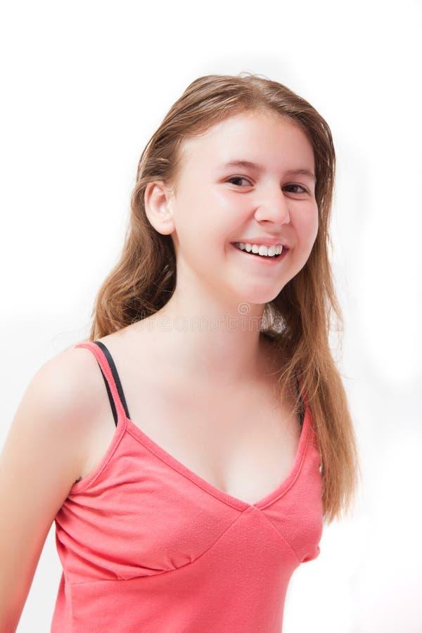 Sonrisa bonita de la chica joven foto de archivo