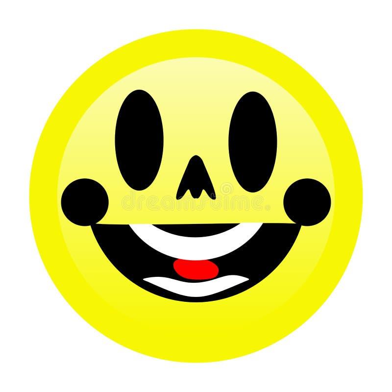 Sonrisa brillante Emoji con el fondo blanco stock de ilustración