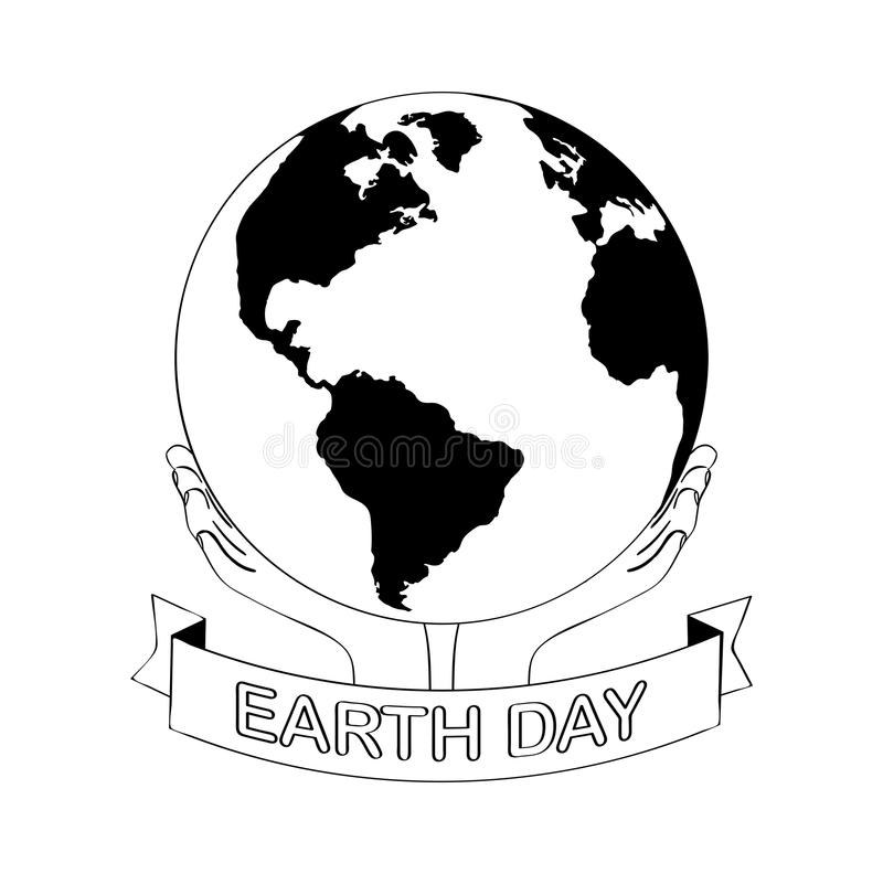 sonrisa común del planeta del ejemplo de la tierra de la historieta del vector Día de la Tierra c stock de ilustración