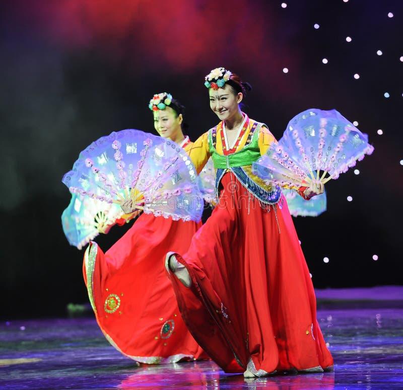 Sonrisa---Danza coreana fotos de archivo
