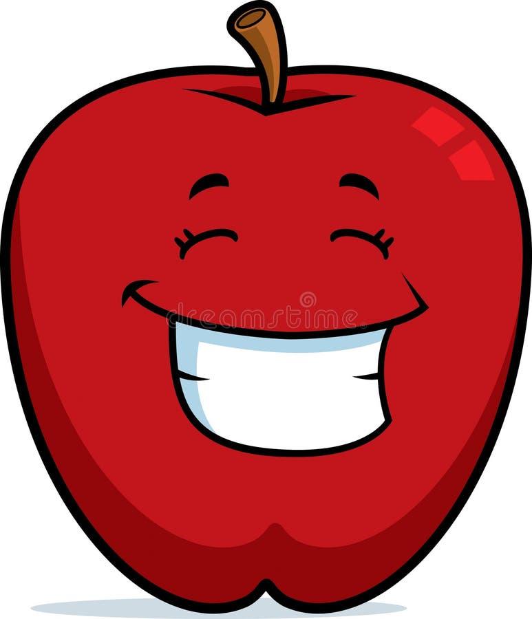 Sonrisa de Apple ilustración del vector