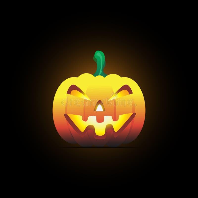 Sonrisa de la calabaza de Halloween foto de archivo