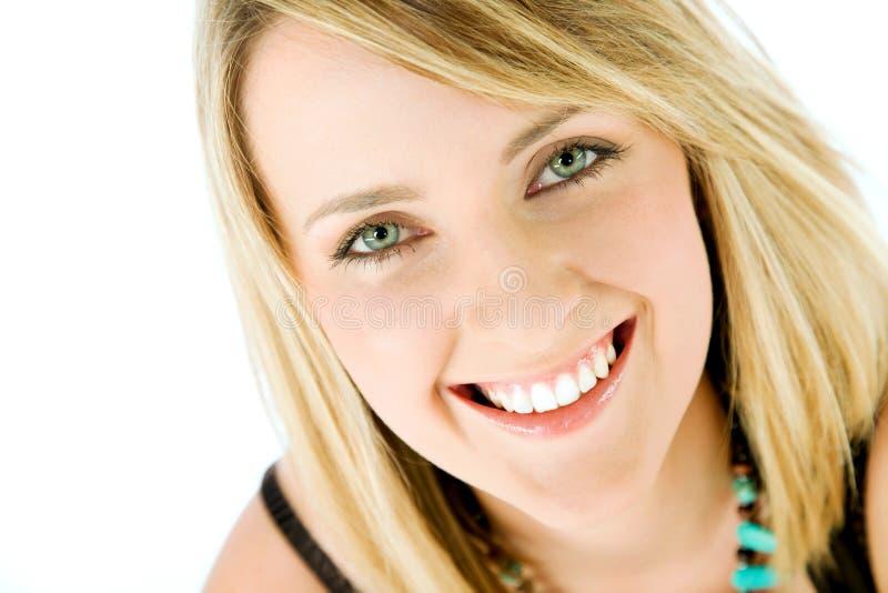 Sonrisa de la cara de la mujer foto de archivo