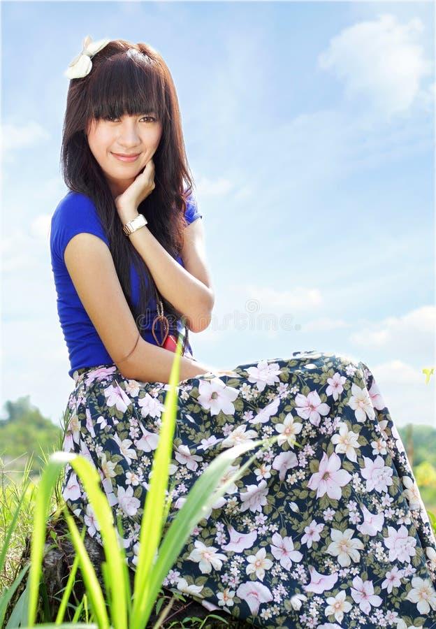 Sonrisa De La Chica Joven Fotografía de archivo