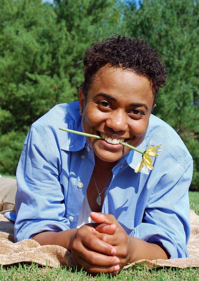 Sonrisa de la flor foto de archivo libre de regalías