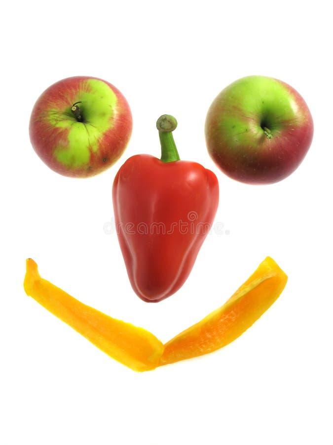 Sonrisa de la fruta aislada en blanco imagen de archivo libre de regalías