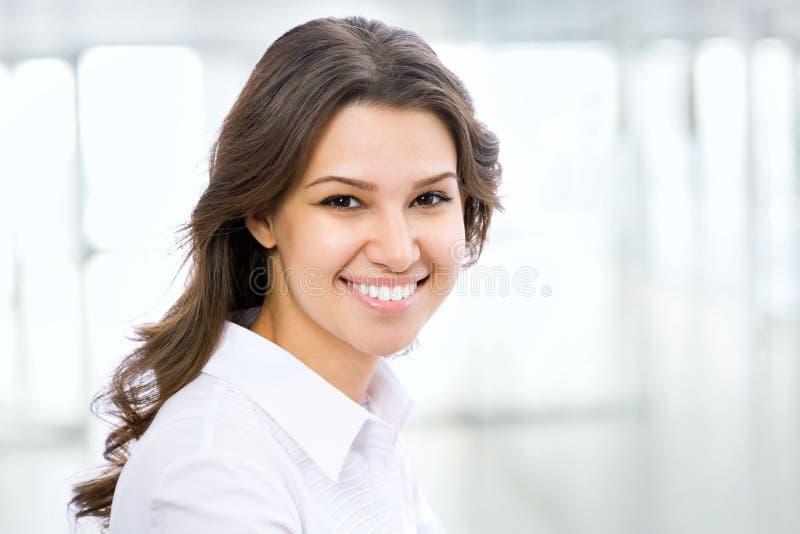 Sonrisa de la mujer de negocios fotografía de archivo