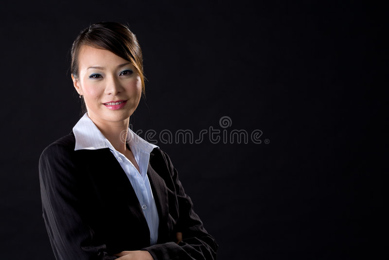 Sonrisa de la mujer de negocios imagen de archivo