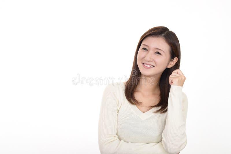 Sonrisa de la mujer feliz fotos de archivo libres de regalías