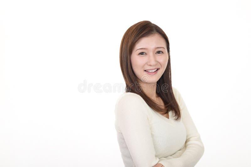 Sonrisa de la mujer feliz foto de archivo