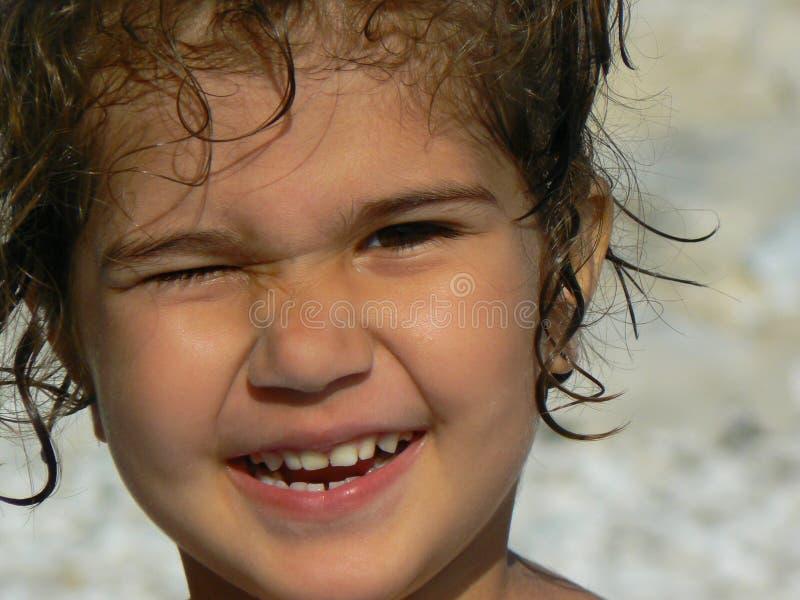 Sonrisa de la niña fotos de archivo libres de regalías