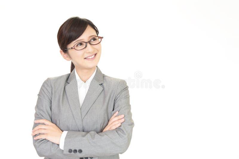 Sonrisa de la señora de la oficina fotografía de archivo