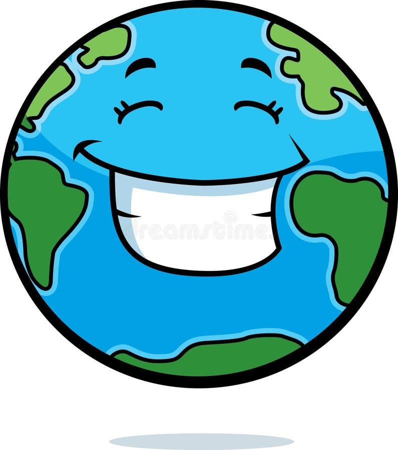 Sonrisa de la tierra ilustración del vector