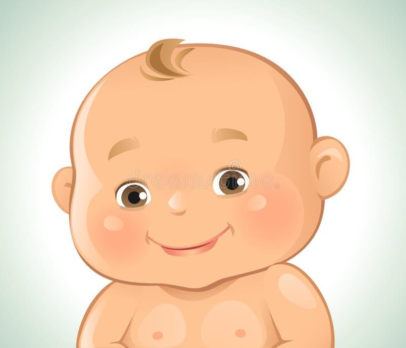 Sonrisa de las emociones del bebé stock de ilustración