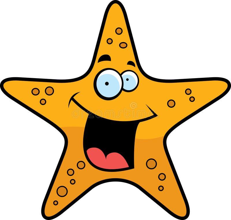 Sonrisa de las estrellas de mar stock de ilustración