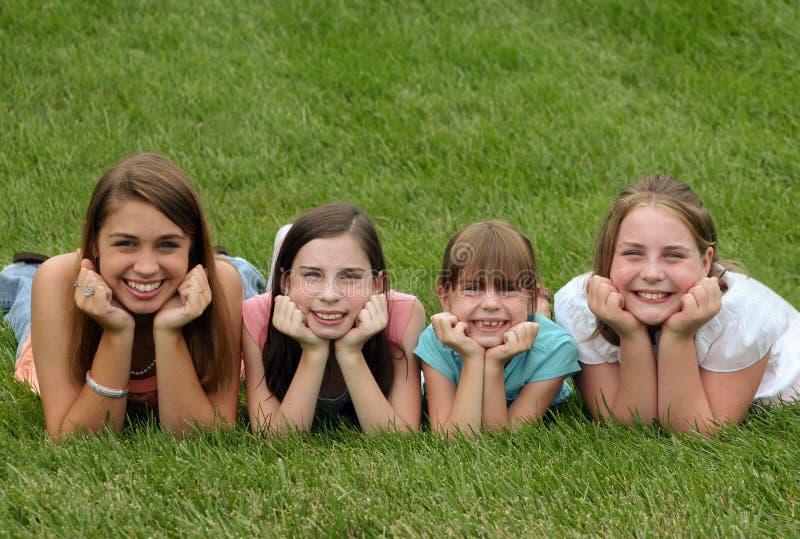 Sonrisa de las muchachas foto de archivo libre de regalías