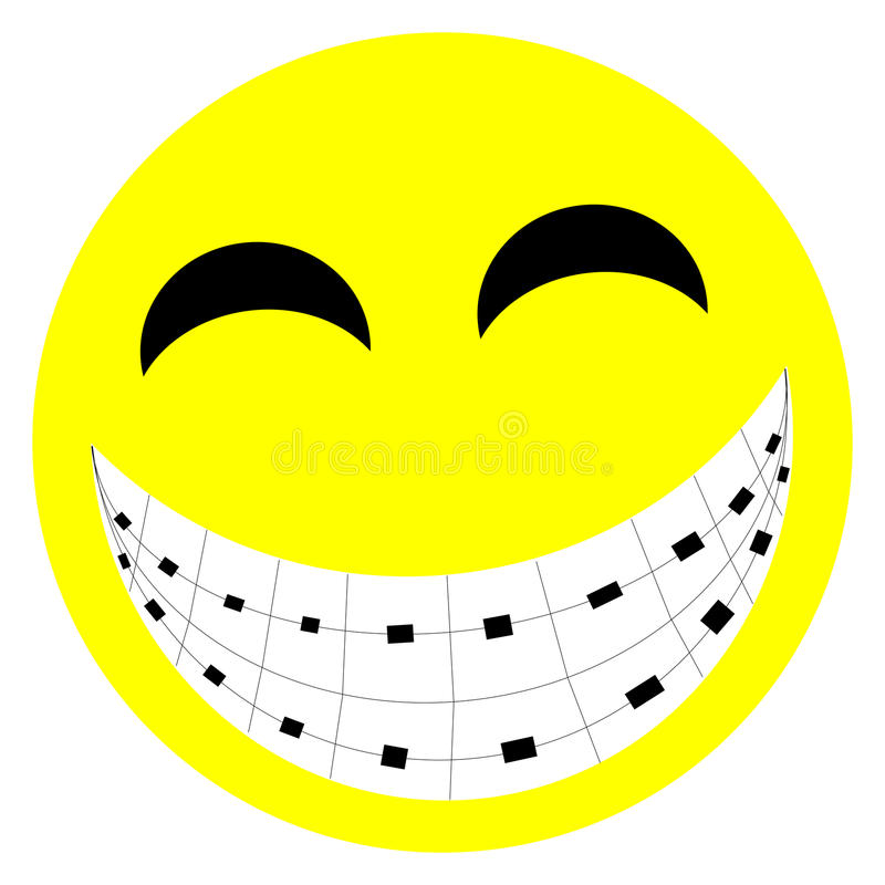Sonrisa de las paréntesis ilustración del vector
