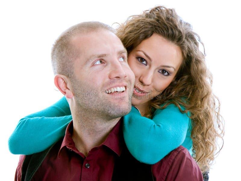 Sonrisa de los pares del amor imagen de archivo libre de regalías