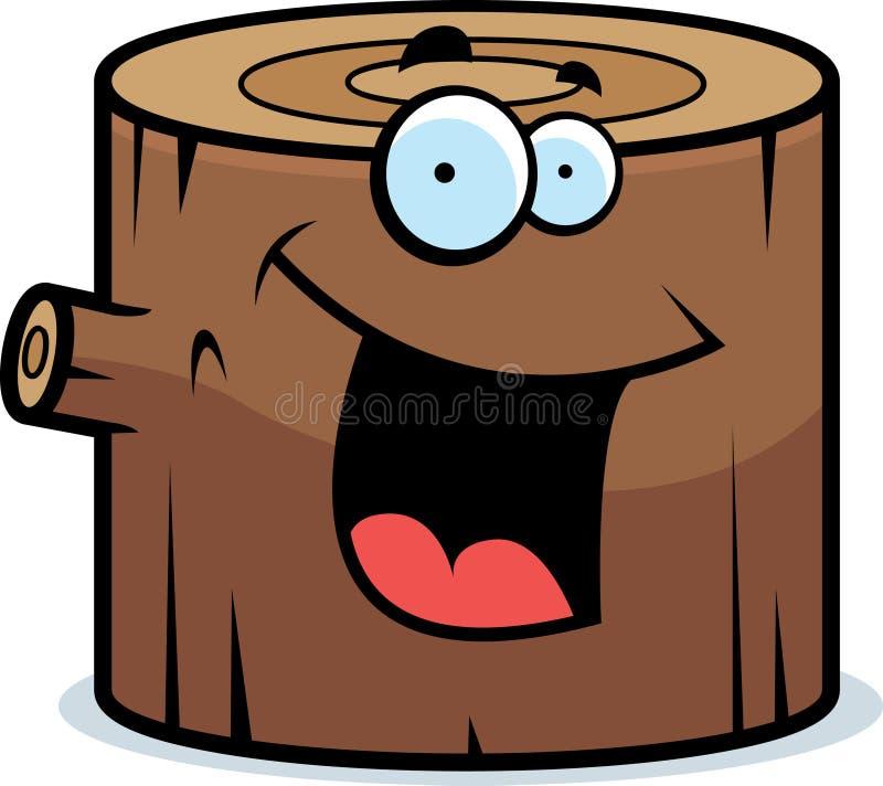 Sonrisa de madera del registro stock de ilustración
