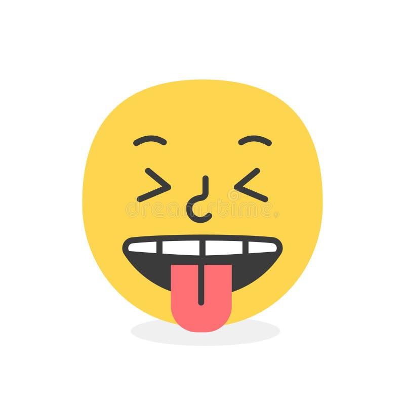 Sonrisa de moda del emoji de la lengua Ilustraci?n del vector eps10 stock de ilustración