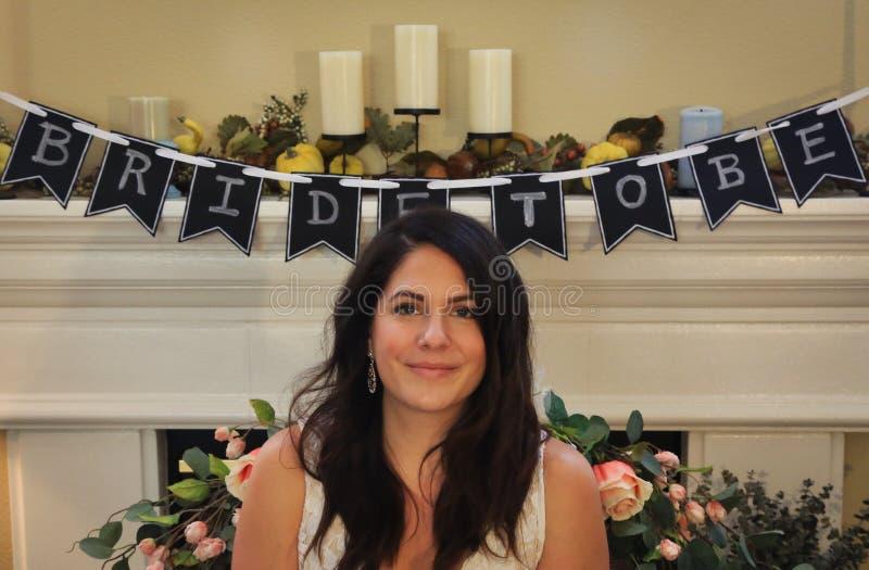 Sonrisa de novia foto de archivo libre de regalías