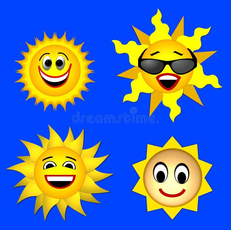 Sonrisa de Sun stock de ilustración