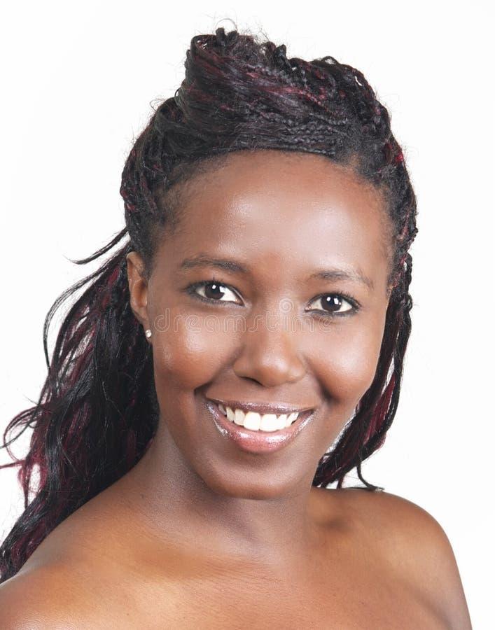 Sonrisa del afroamericano imagen de archivo libre de regalías