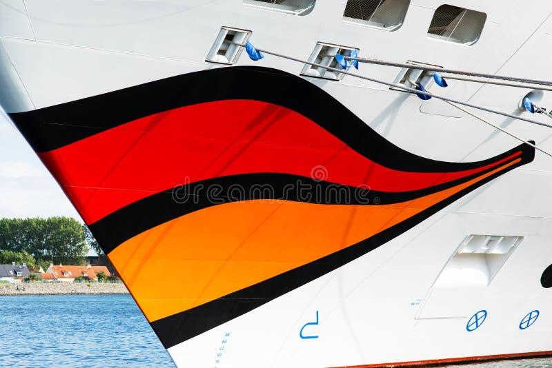 Sonrisa del barco de cruceros de Aida Mar imagen de archivo