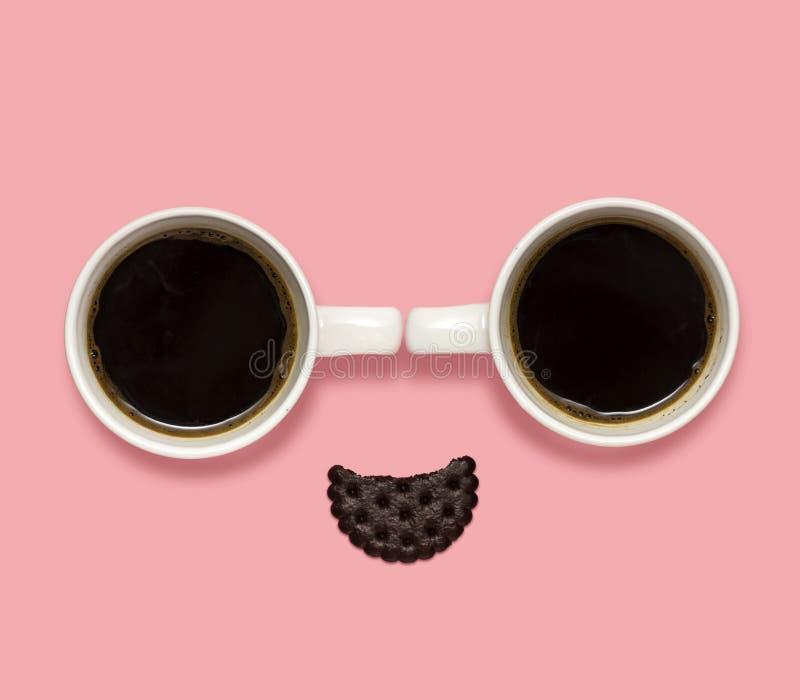 Sonrisa del café fotografía de archivo
