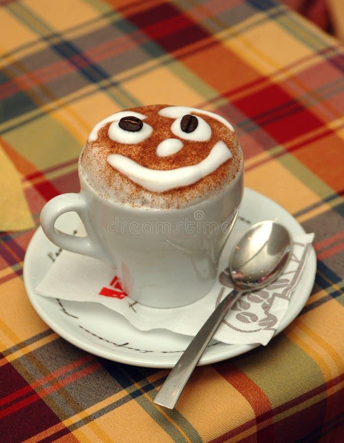 Sonrisa del Cappuccino foto de archivo libre de regalías