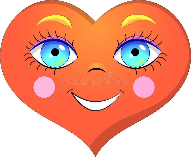 Sonrisa del corazón libre illustration