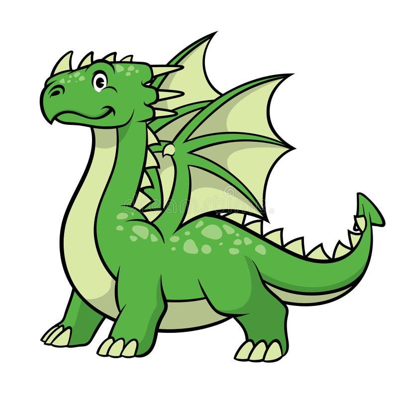 Sonrisa del dragón verde de la historieta libre illustration