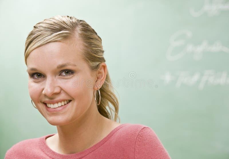 Sonrisa del estudiante fotografía de archivo