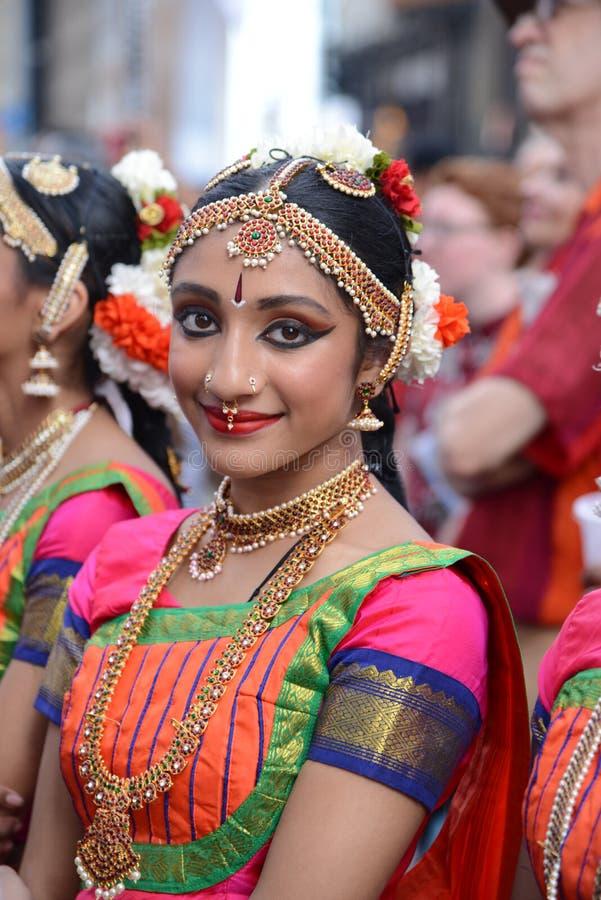Sonrisa del festival de Diwali fotografía de archivo libre de regalías