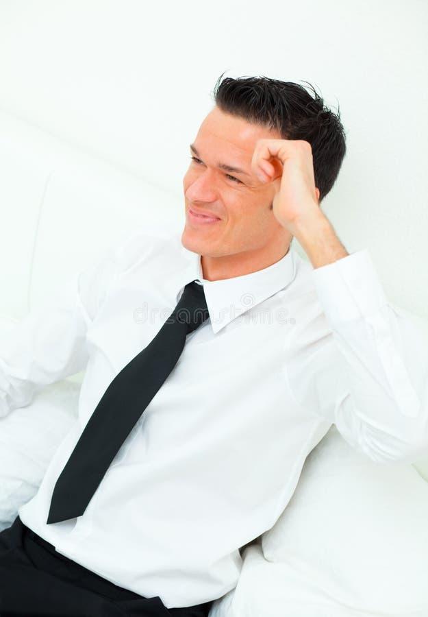 Sonrisa del hombre de negocios foto de archivo libre de regalías