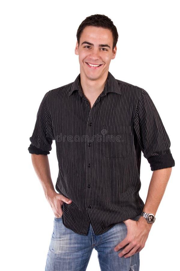Sonrisa del hombre joven fotos de archivo libres de regalías