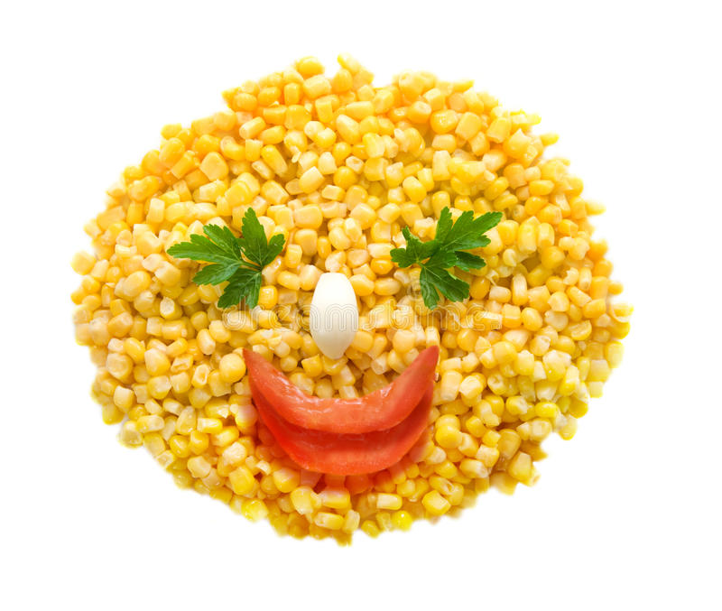 Sonrisa del maíz foto de archivo libre de regalías