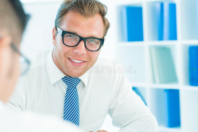 Sonrisa del negocio imagen de archivo libre de regalías