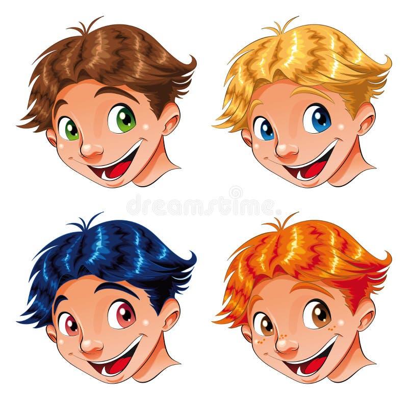 Sonrisa del niño ilustración del vector