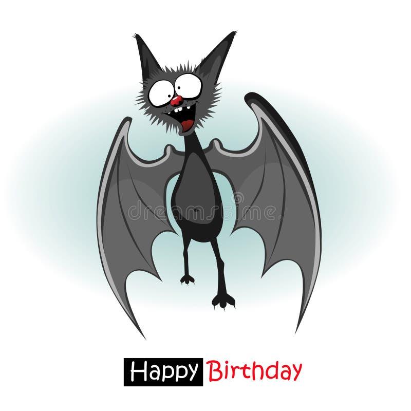 Sonrisa del palo del feliz cumpleaños stock de ilustración