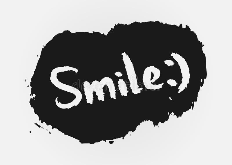 ¡Sonrisa del texto! , cepillo áspero pintado libre illustration