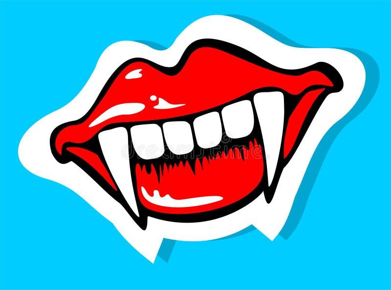 Sonrisa del vampiro ilustración del vector