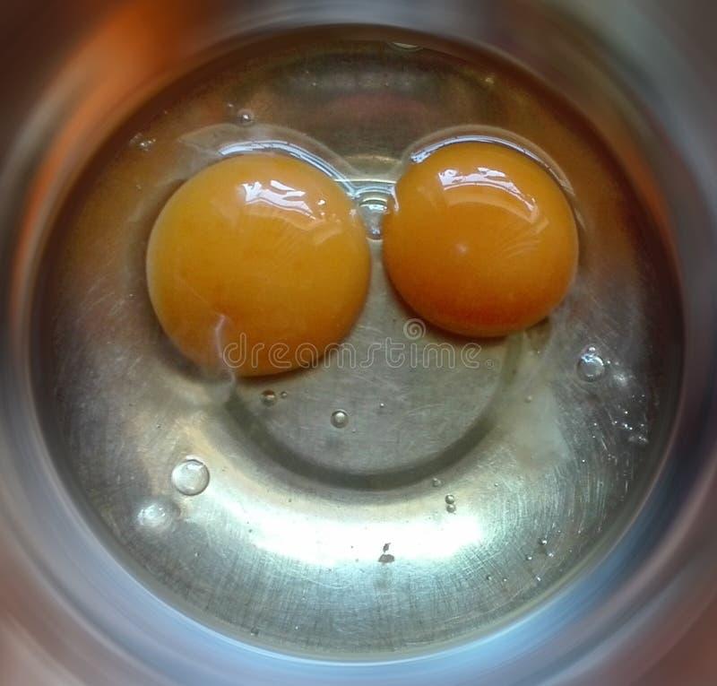 Sonrisa dulce de los huevos sin fondo imágenes de archivo libres de regalías
