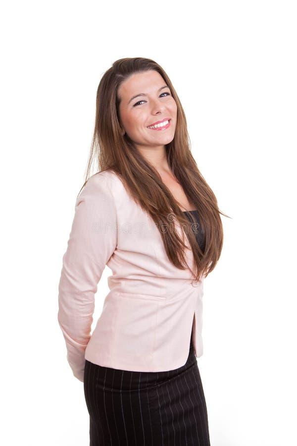 Sonrisa elegante de las ventas o de la mujer de negocios foto de archivo