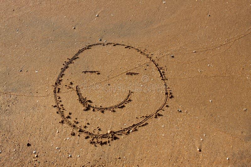 Sonrisa en la playa. imagenes de archivo