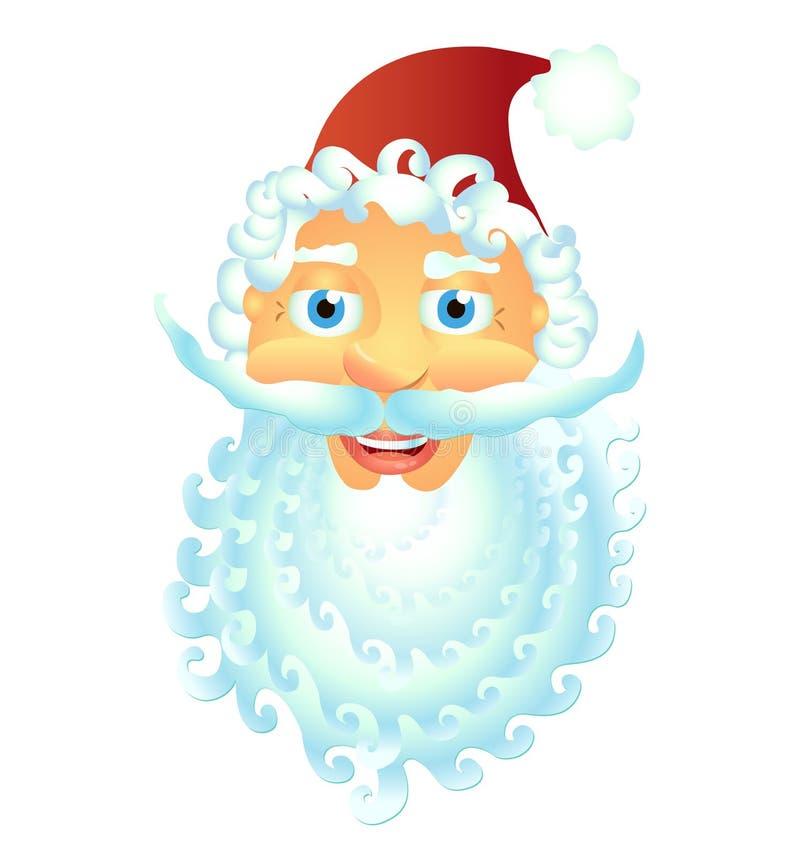 Sonrisa feliz Santa Claus aislada en el vector blanco Illu del fondo libre illustration