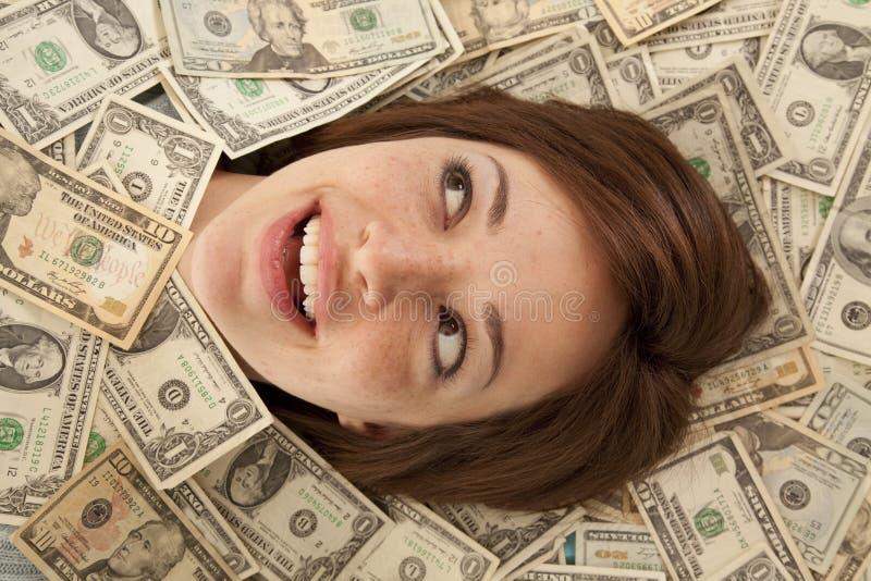 Sonrisa fuera del dinero fotos de archivo